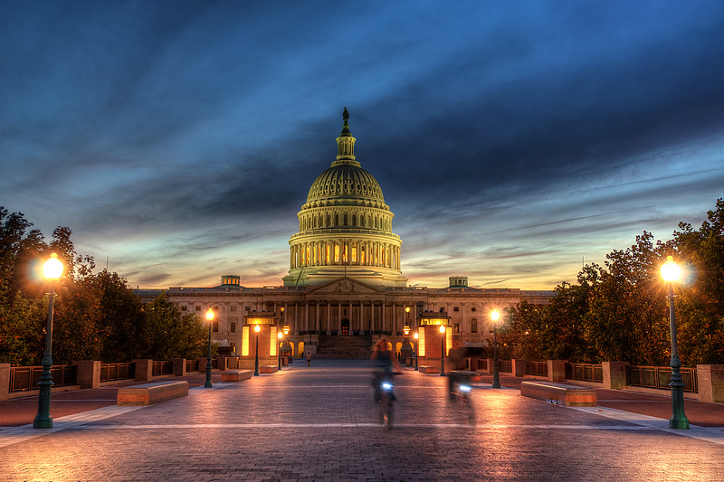 Sunset at US Capitol