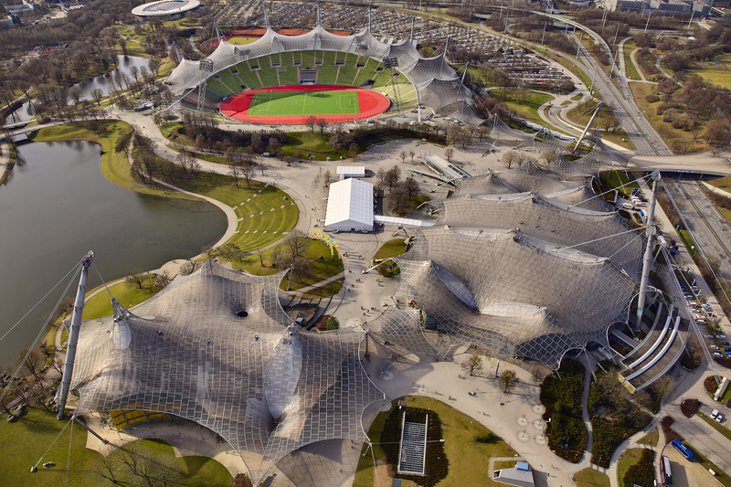 Bird's eye view of the Olympic village in Münich