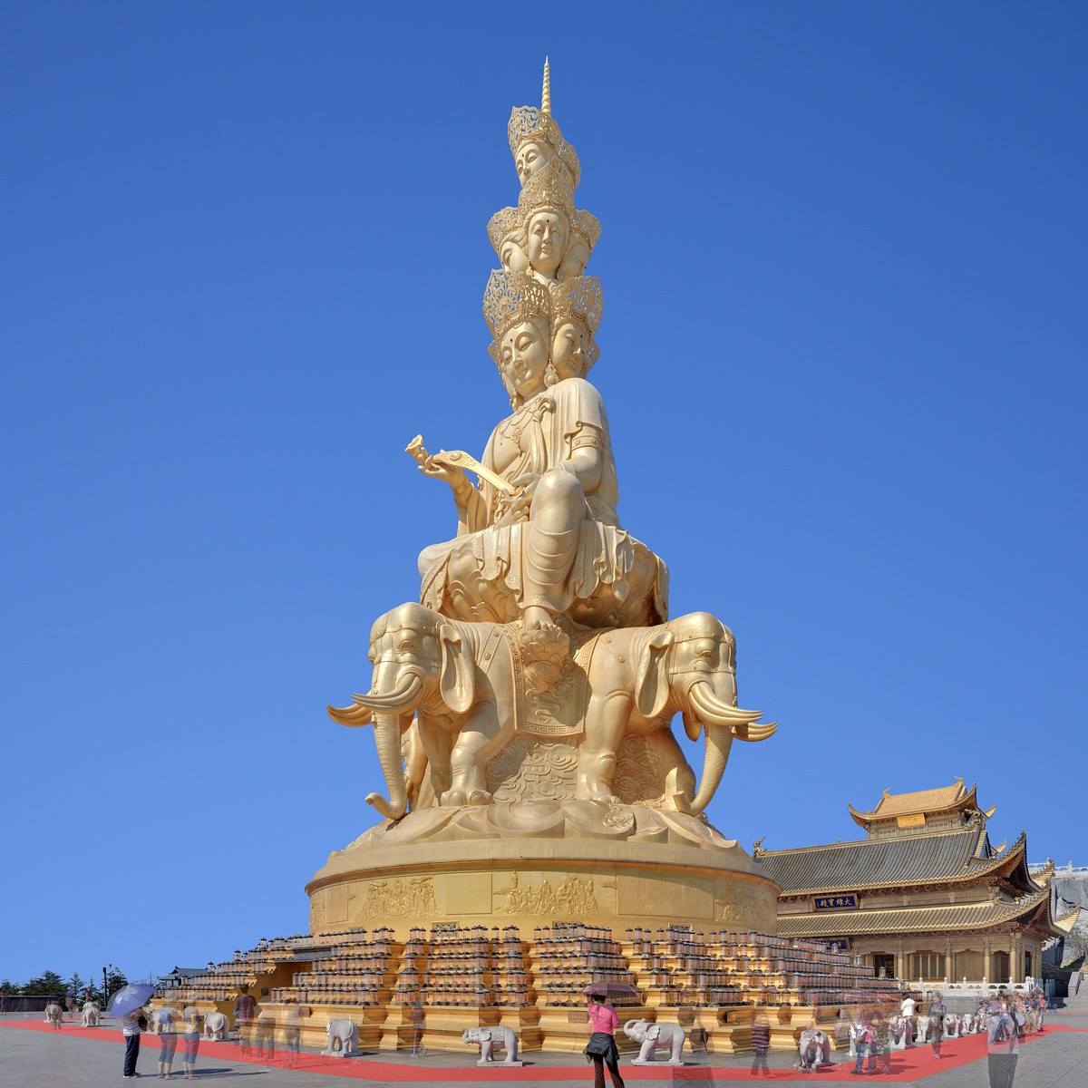 At the top of  Emei shan