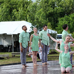 Six artist from the Louisville Ballet performed.