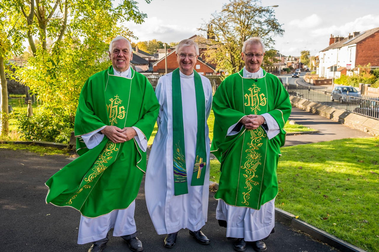 Fr Stuart Haworth, The Ven David Bailey Archdeacon of Bolton and Canon Ian Anthony