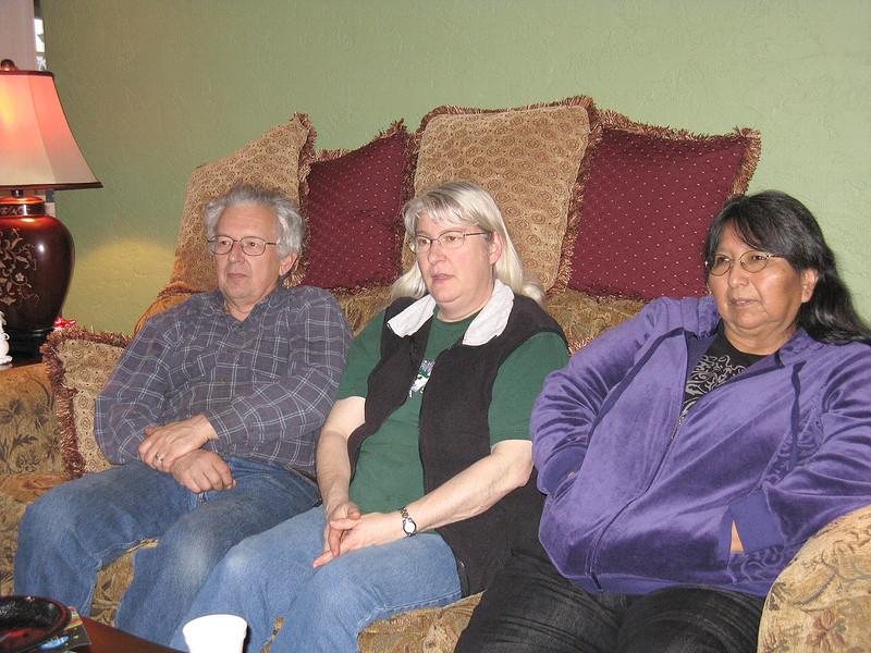 Lyle Weise, Linda Weise, and Darlene Foster.