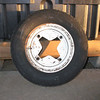 "Dexter wheel, sometimes called a ""star"" wheel.  Uses an odd 4 x 9.44"" bolt pattern."