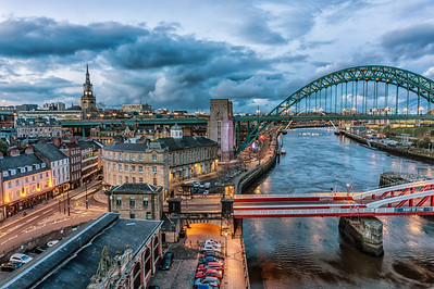Blue Hour Newcastle Quayside