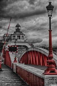 Red & White Swing Bridge