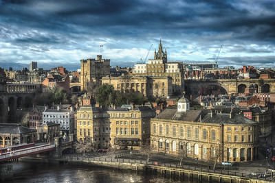 Newcastle From The Tyne Bridge by Lang Shot Photography