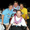 Tom and Carolyn with Rick and Dick Hoyt.  They have competed together in over 986 events.