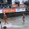 The German team finishing a warm up swim the day before the race.
