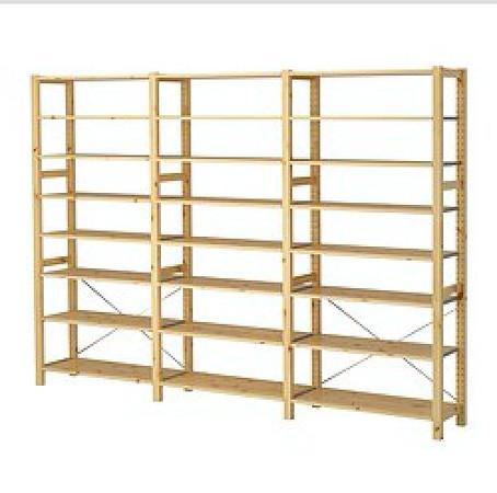 Inexpensive Ikea shelving