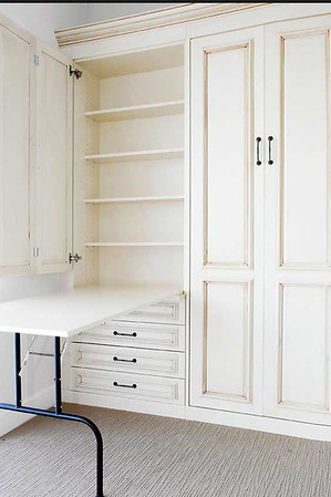 Table Folds Down out of cupboard/shelving