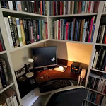 Workspace with books.