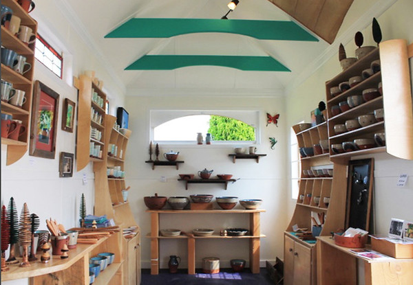 Actual Tiny House Mobile Retail Space for Pottery