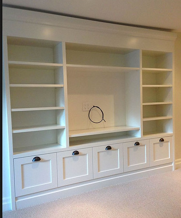 Bookshelves with storage