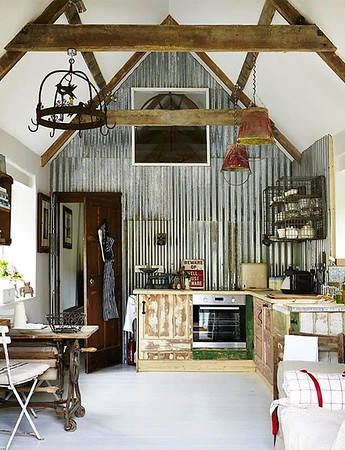 Corrugated Iron Interior Wall