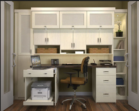 Built in workspace with storage
