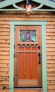 "Vyl Vardos ""Fuchsia"" house front door. I love style. Look at green details. Want to emulate this on less exoensive model."