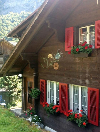 Austrian Painting on House -