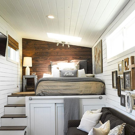 Example of low loft with storage under.