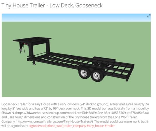 Goose-neck trailer