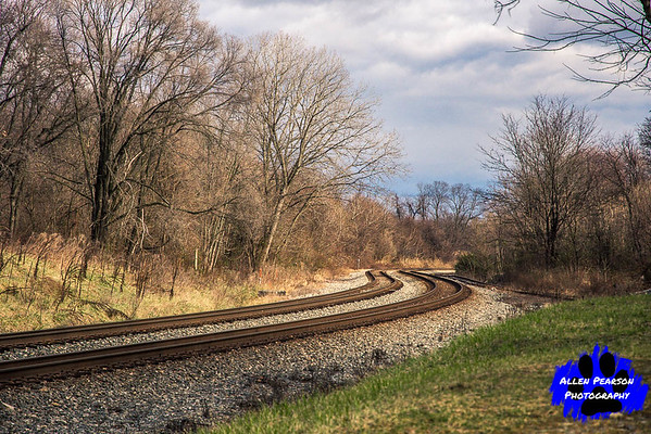 Winter's Sun on Railroad Landscape, Shenandoah Junction, WV