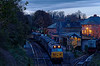 "50027 ""Lion"" shunting stock at Alresford, prior to working the ECS for the Real Ale train up to Ropley. 3rd November 2012."