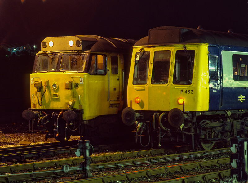 50001 and P463 on Exeter Depot on 29th September 1984.