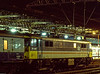 86406 at Crewe, with the 19:00 Liverpool - Birmingham, on 6th January 1988.