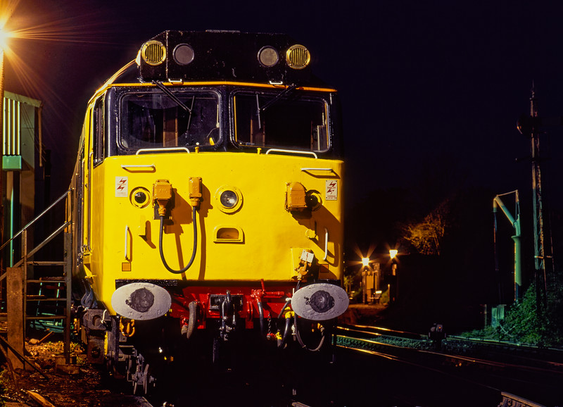 """50031 """"Hood"""" at Ropley on 24th April 1993."""