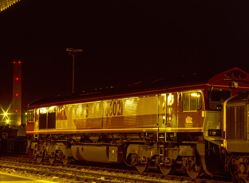 66021 on the Loco Holding Sidings at Didcot on 16th January 1999.