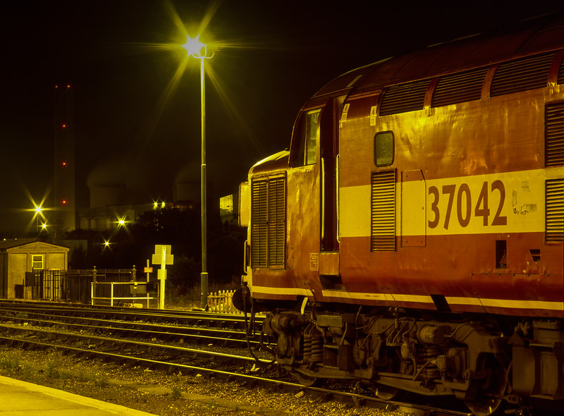 37042 on the Loco Holding Sidings at Didcot on 25th September 2002.