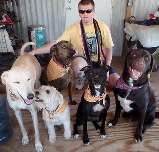 The Ranch Pack with their papa (640x611)