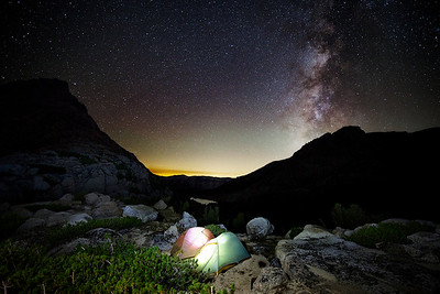 Camping atop Selden Pass