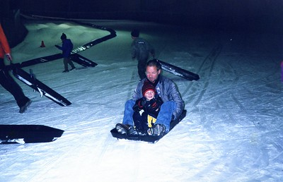 Mick and Wyatt at Snow Dome Adelaide 2002