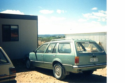 Mums Caption - 'Rob's car outside his office at New Parliament House Construction Site October 1986'