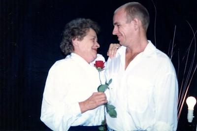 Mum and Shane taken Elizabeth Bay, Sydney July 1990.