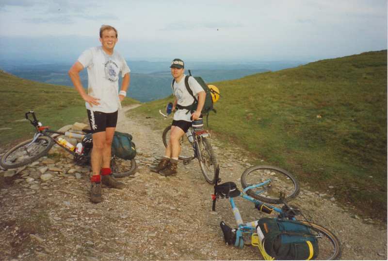 That's the top of the Walner Scar Road that is! If we look relieved it's because we were!