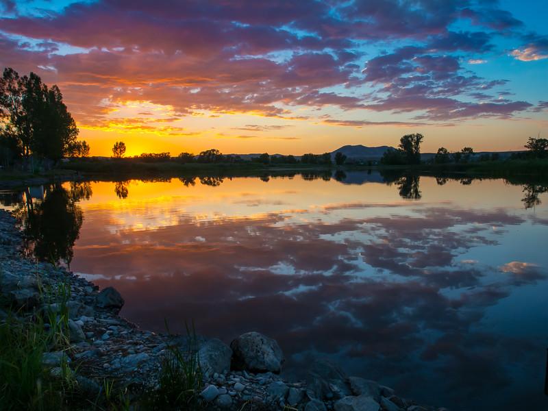 Northwest Colorado Sunset at Loudy Simpson Park