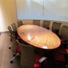 Conference room – with table made from the Beech tree we needed to take down.