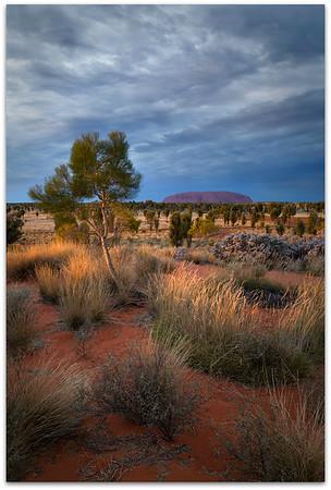 Storm brewing over Uluru