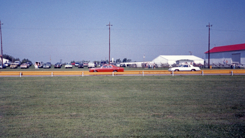 """Saturday July 18, 1987:  Eliminations.  The event format was the same as it was last year - Heads-Up """"Run What You Brung.""""  I didn't """"brung"""" enough against this 340-powered Dodge Demon who already had me beat by half track.  I ran 16.57 seconds.  My car may not have been that fast.  But it was quite consistent."""
