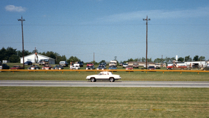 Unlike my first pass against the Javelin SST Trans Am edition where both cars were visible in the same photo at half track, the 'Cuda was probably 3 seconds in front of me on this run.  My time improved slightly to 16.80 seconds.