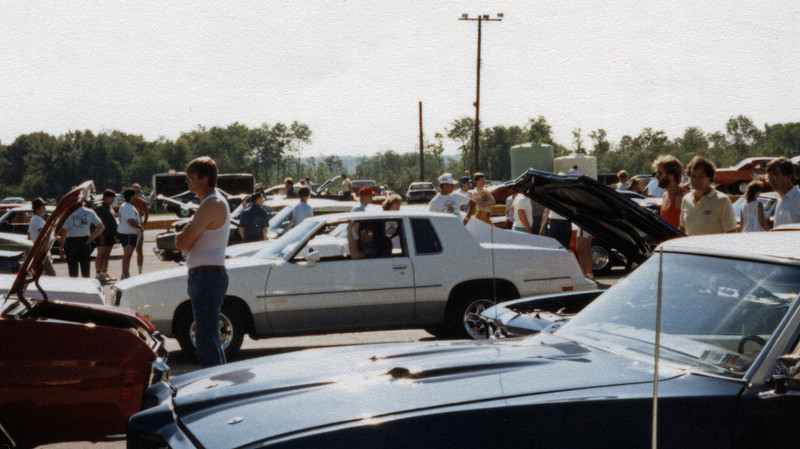 Saturday June 21, 1986:  Time trials and eliminations.  First on the schedule for Saturday were a series of time trials.  Drivers were given the opportunity to make several timed quarter mile passes.