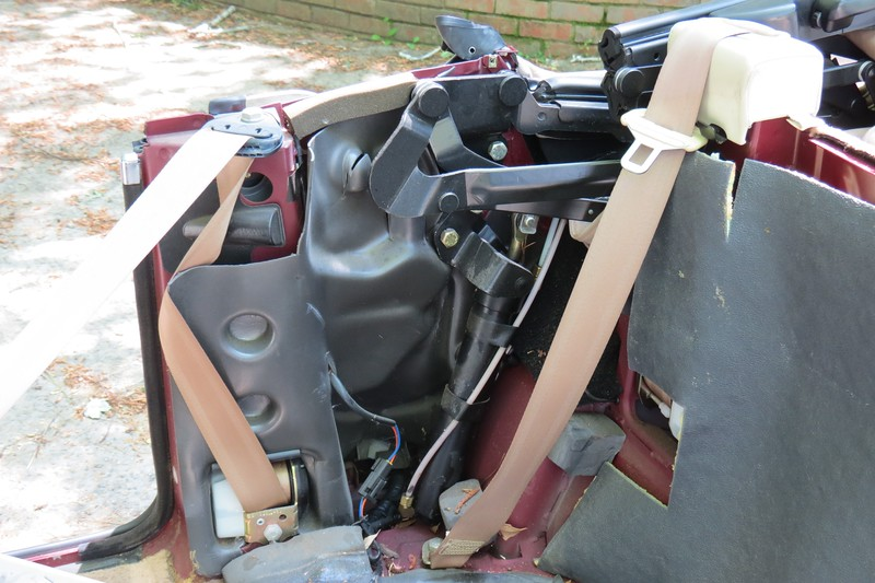 With the trim panel out of the way, I had easy access to the top cylinder and lines.