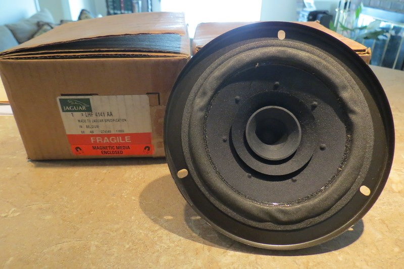 The parts order for this project wasn't actually too painful.  The rear speakers were surprisingly still available and cost a mere $11 each.