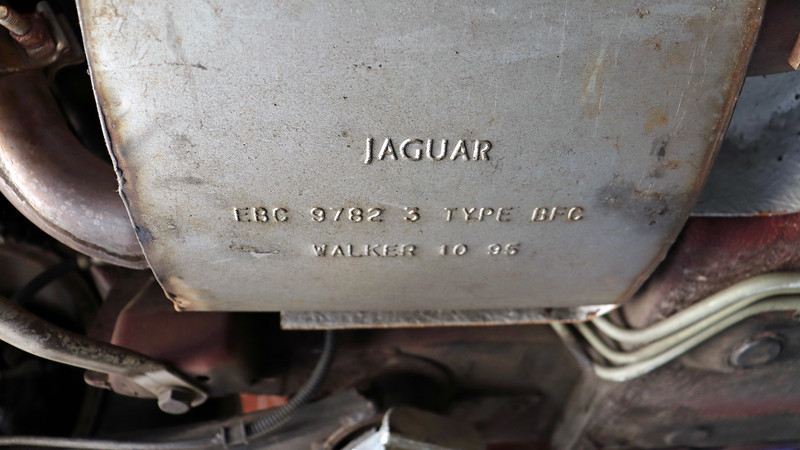 "The photo above is a close-up of one of the rear resonators.  EBC 9782 is a Jaguar part number.  I'm guessing ""Walker"" refers to the OEM supplier, but I'm not sure."
