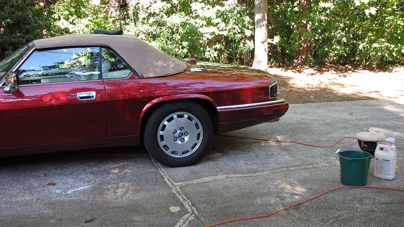 October 1, 2011:  Time to wash & wax the new XJS.