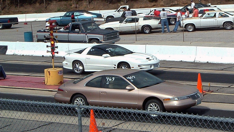 I went 15.52 @ 92.38 mph for my second time trial.  My opponent in the Trans Am didn't realize just how short the shut down area was at MAR and crashed into the sand pit at the end of the track.