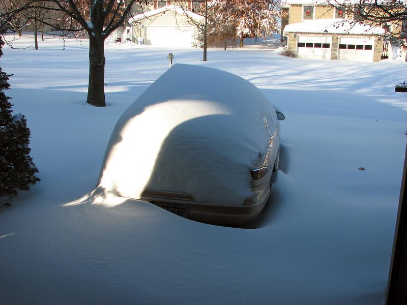 Columbia, Missouri received around 15 inches of snow overnight.