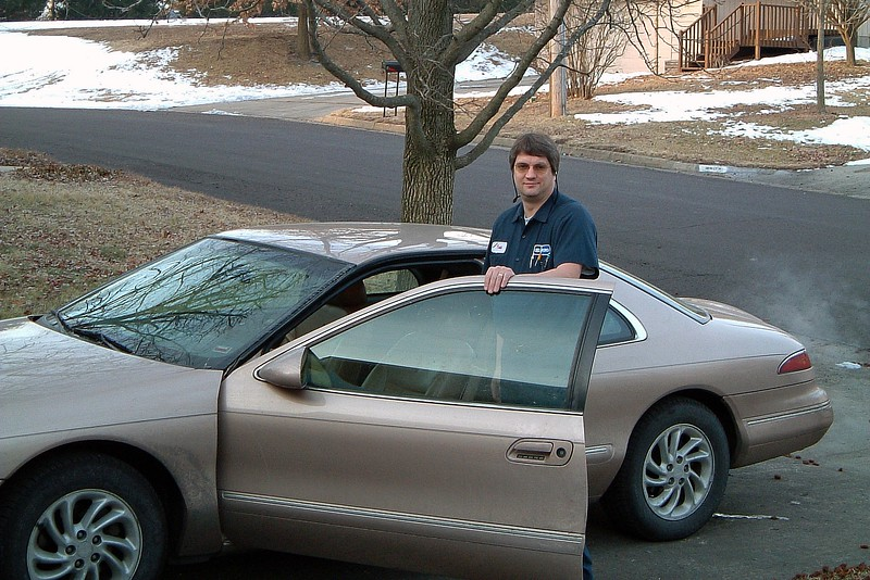February 16, 2004:  My wife decided to snap a few pics of me as I was heading out the door to work one morning.