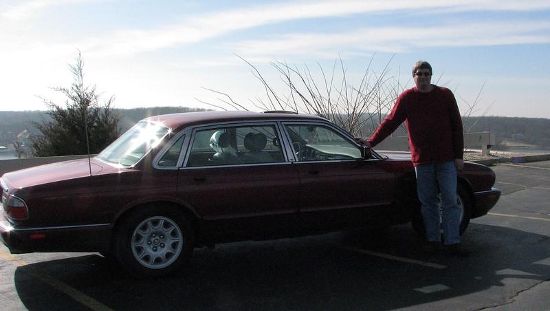 Todd and his new Jaguar.